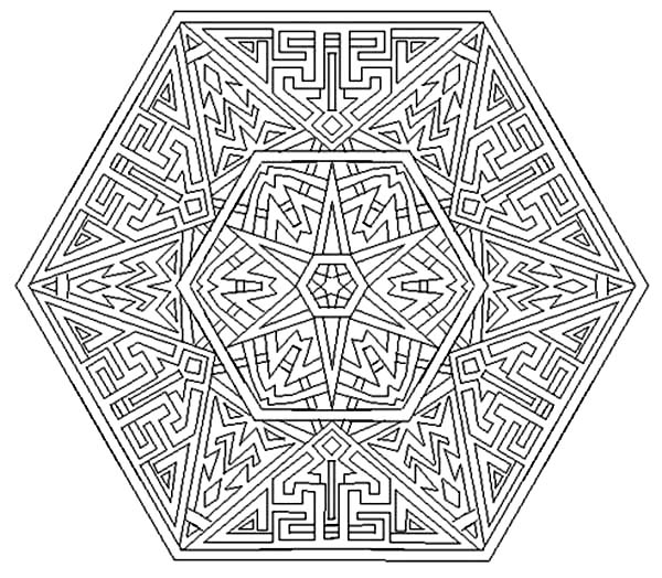 Aztec, : Amazing Aztec Mandala Coloring Pages