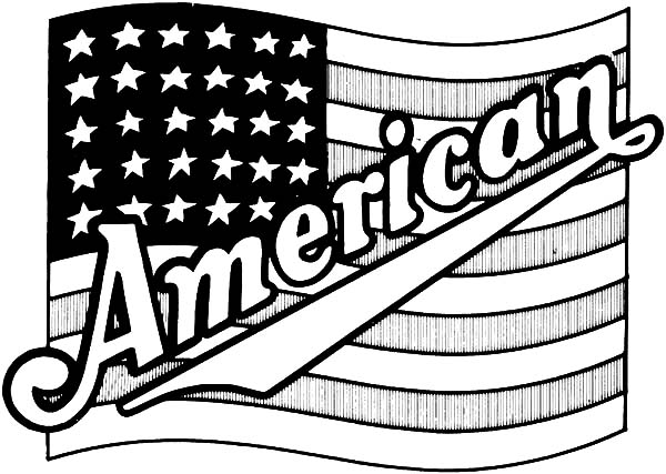 American Revolution Flag, : American Proud American Revolution Flag Coloring Pages