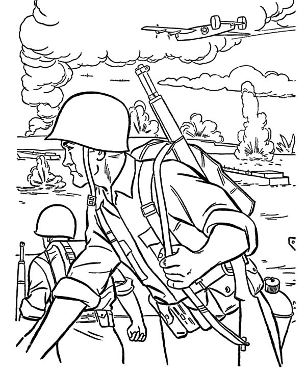 Army, : An Army Troops Coloring Pages