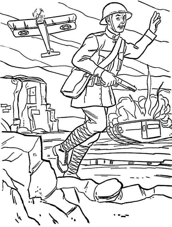 Army, : An Army at War Coloring Pages