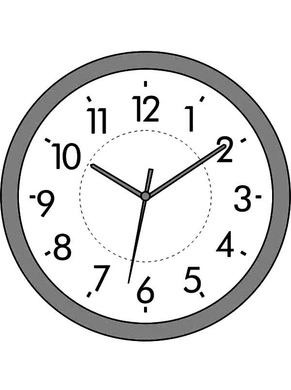 wall clock coloring page