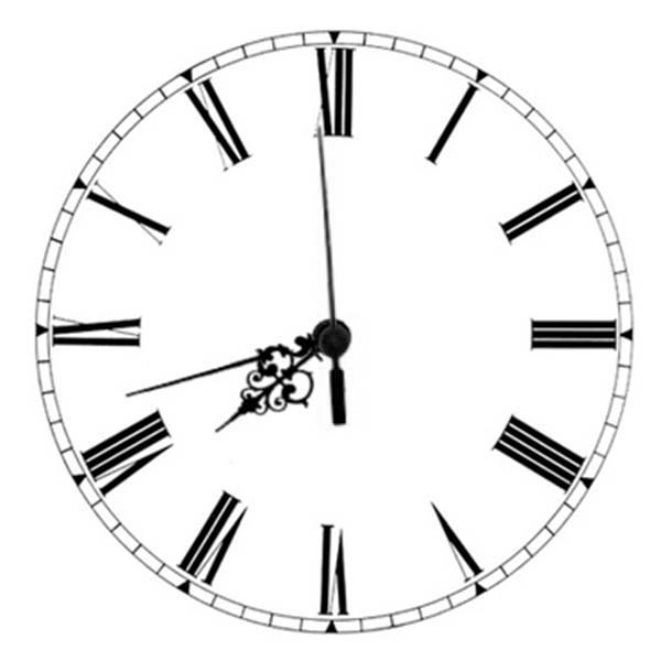 Analog Clock, : Analog Clock Coloring Pages