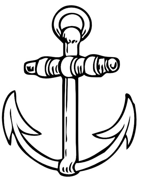 Anchor, : Anchor Tattoo Coloring Pages