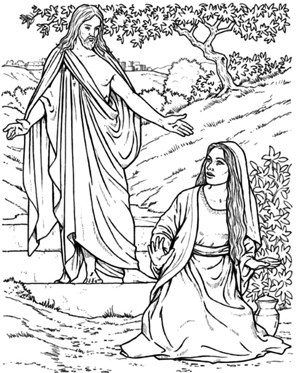Angel Appears To Mary, : Angel Appears to Mary and Joseph and Tell Them about Birth of Jesus Coloring Pages