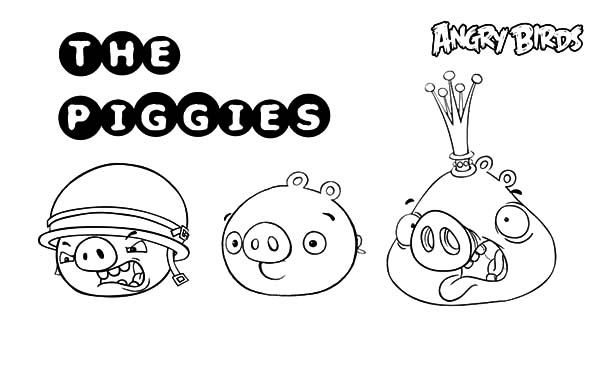 Angry Bird Pigs, : Angry Bird Pigs Member Coloring Pages
