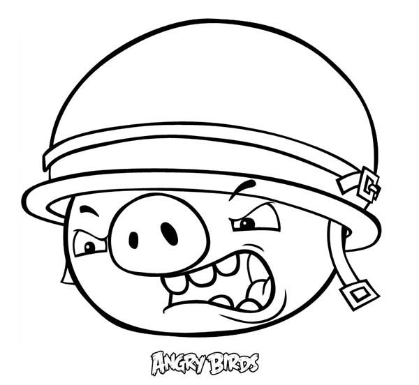 Angry pigs coloring pages coloring page for Angry birds coloring pages for learning colors