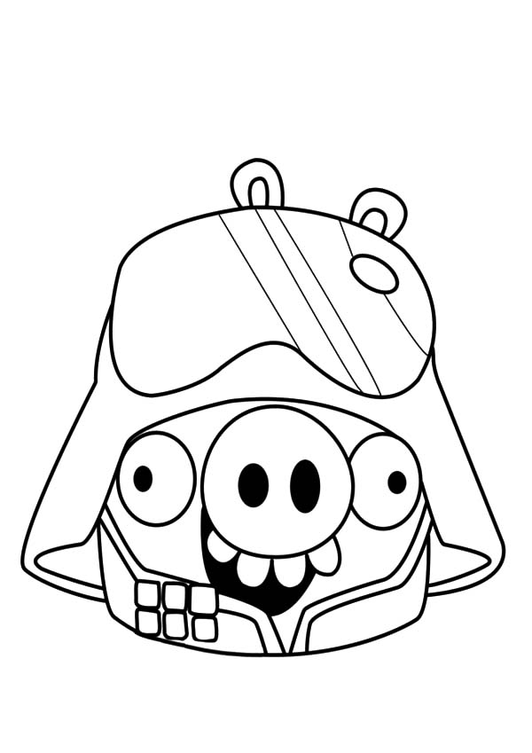 Angry Bird Pigs, : Angry Bird Pigs as Darth Vader Coloring Pages
