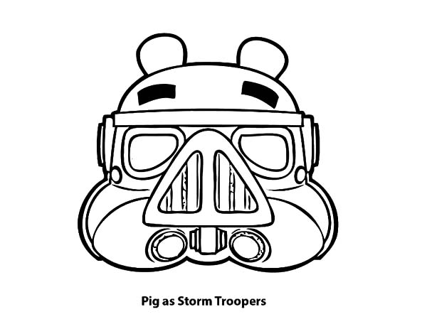 Angry Bird Pigs, : Angry Bird Pigs as Storm Troopers Coloring Pages