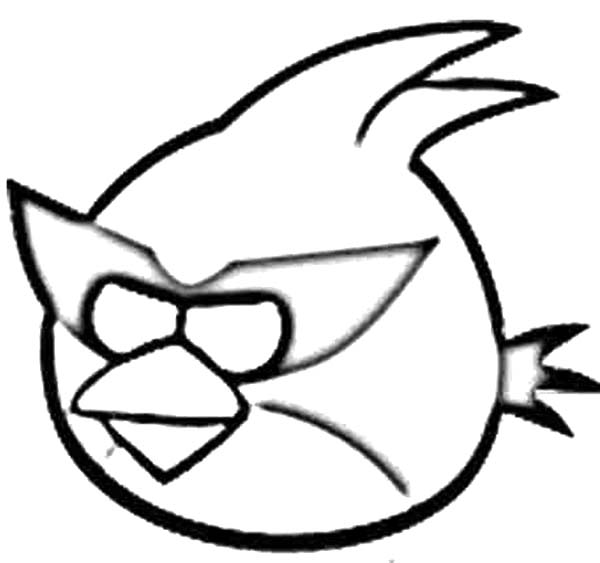 Angry Bird Space, : Angry Bird Space Captain Red Attack Coloring Pages