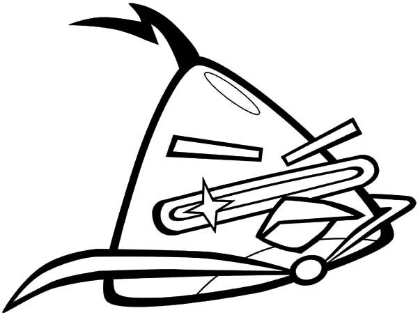 Angry Bird Space, : Angry Bird Space Character Lazer Bird Coloring Pages