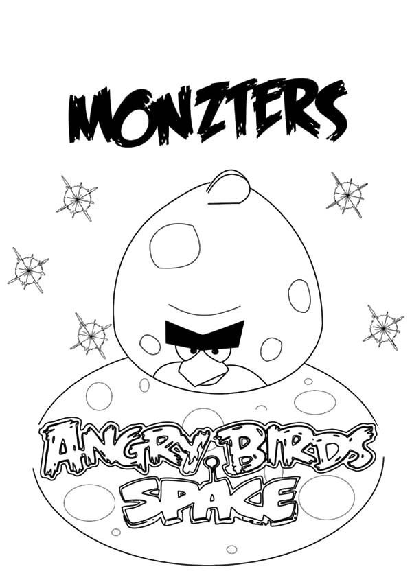 Angry Bird Space, : Angry Bird Space Monzters Coloring Pages