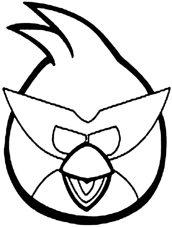 Angry Bird Space Wearing Super Mask Coloring Pages