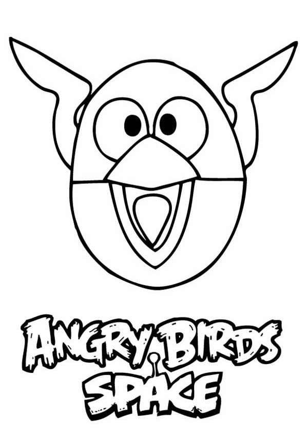 Angry Bird Space, : Angry Bird Space the Lighting Bird Coloring Pages