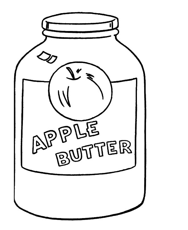 Jar, : Apple Butter Jar Coloring Pages