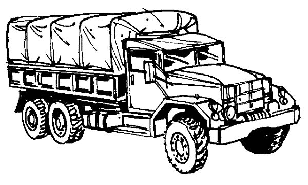 Army Car, : Army Car Military Truck Coloring Pages