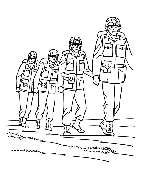 Army, : Army Forces Coloring Pages