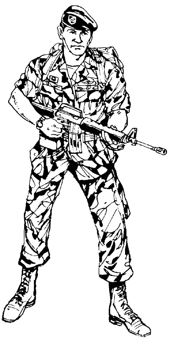 Army, : Army Ready to Attack Coloring Pages