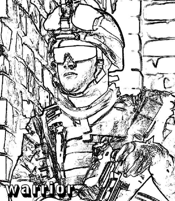 Army, : Army Warrior Coloring Pages