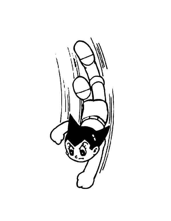 Astro Boy, : Astro Boy Aerial Action Coloring Pages