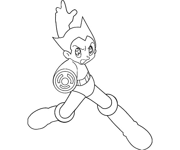 Astro Boy, : Astro Boy Attack Coloring Pages