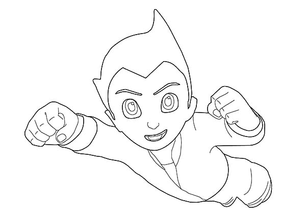 Astro Boy, : Astro Boy Has Defeat the Enemy Coloring Pages