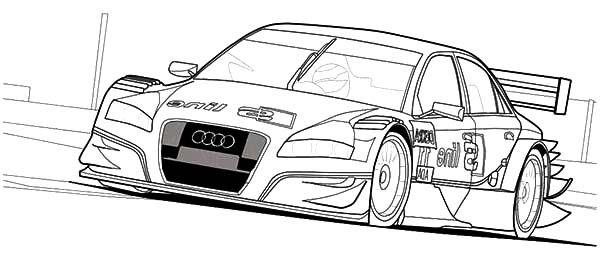 Audi Cars, : Audi Cars A4 DTM Coloring Pages