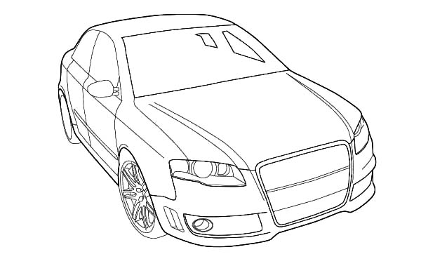 Audi Cars, : Audi Cars Coloring Pages for Kids