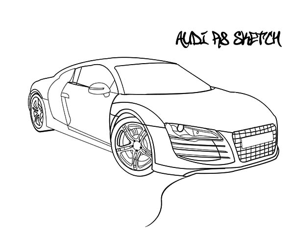Audi Cars, : Audi Cars Coloring Pages