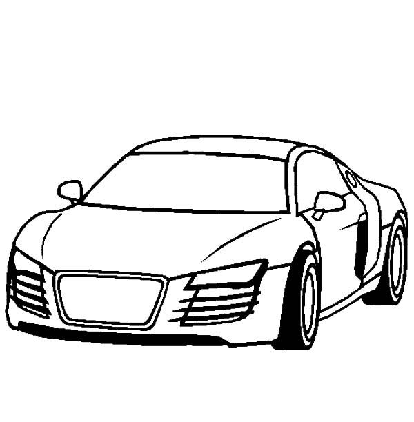 Audi Cars, : Audi Cars R4 Coloring Pages