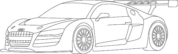 Audi Cars, : Audi Cars R8 GT Coloring Pages