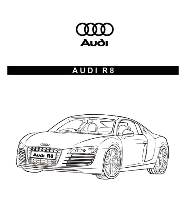 Audi Cars, : Audi Cars R8 Sedan Coloring Pages