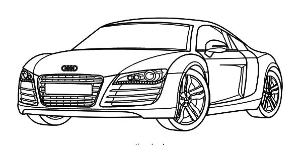 Audi Cars, : Audi Cars R8 Series Coloring Pages