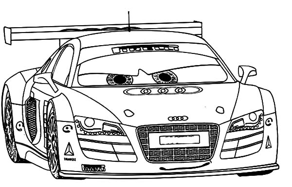 Audi Cars, : Audi Cars R8 Sport Coloring Pages