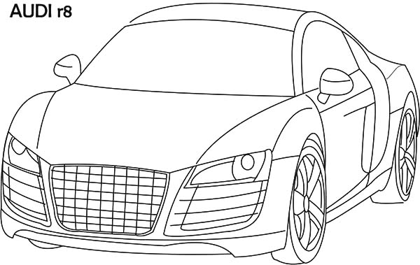 Audi Cars, : Audi Cars Sedan R8 Coloring Pages