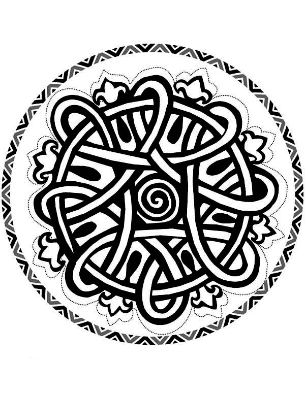 Aztec, : Aztec Art Mandala Coloring Pages