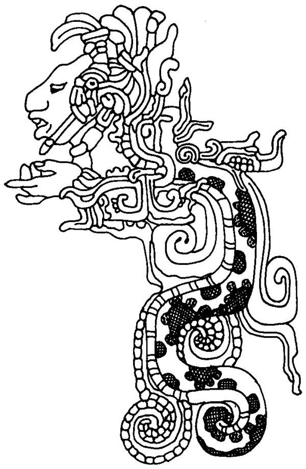 Aztec, : Aztec Coloring Pages