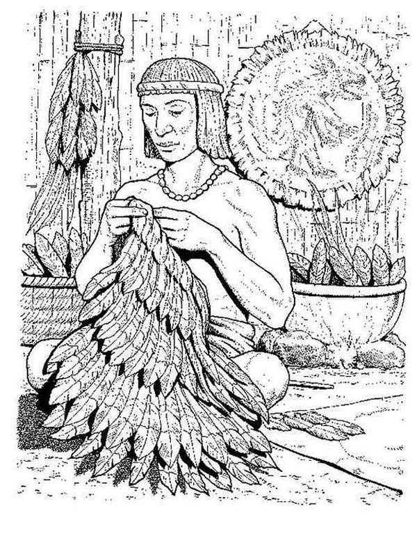 Aztec, : Aztec Handycraft Coloring Pages