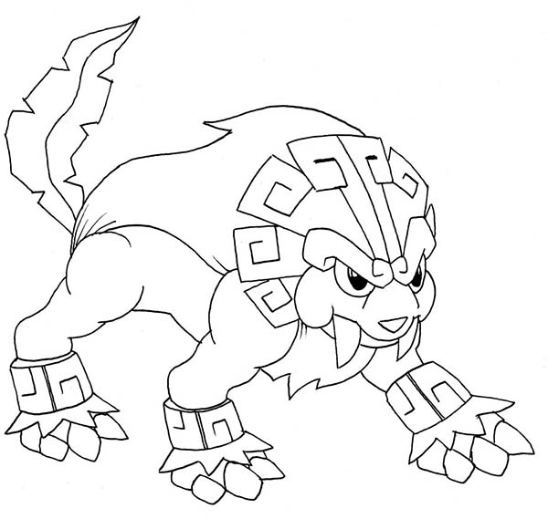 Aztec, : Aztec Lion Sculpture Coloring Pages