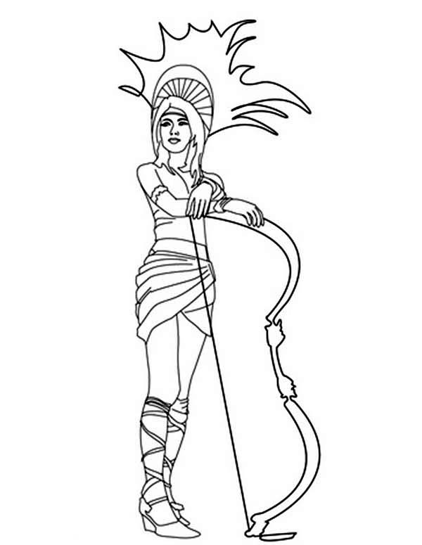 Aztec, : Aztec Warrior Princess Coloring Pages