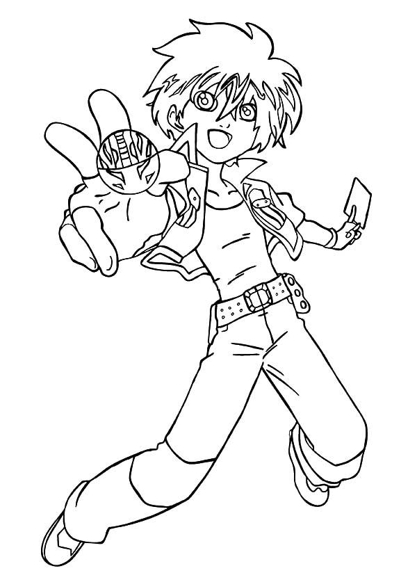 Bakug, : Bakug Bakugan Dan and His Dragonoid Coloring Pages