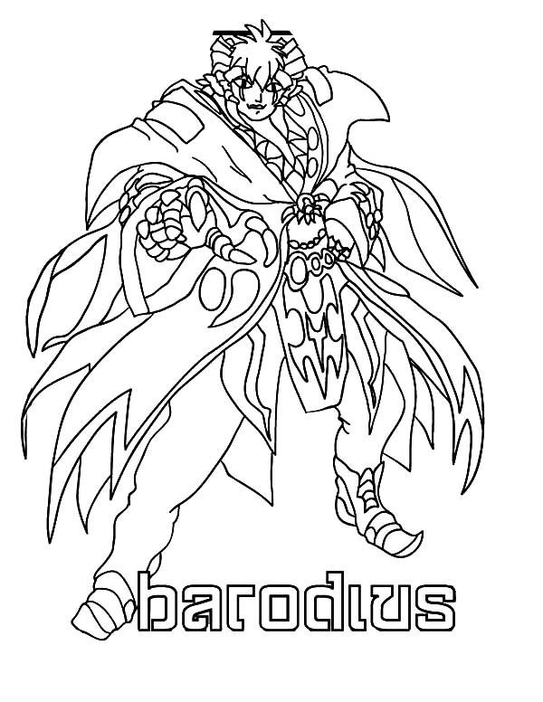 Bakug, : Bakug Bakugan Gundalian Barodius Coloring Pages