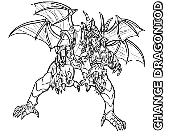 Bakug, : Bakug Bakugan Gundalian Invaders Chance Dragonoid Coloring Pages
