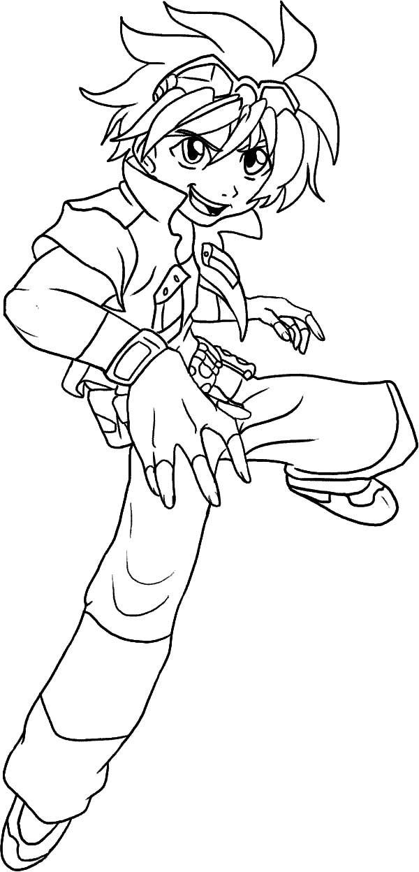 Bakug, : Bakug Bakugan Leader Coloring Pages