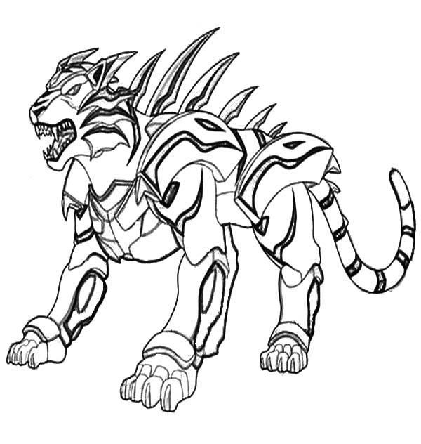 Bakug, : Bakug Bakugan Roaring Coloring Pages