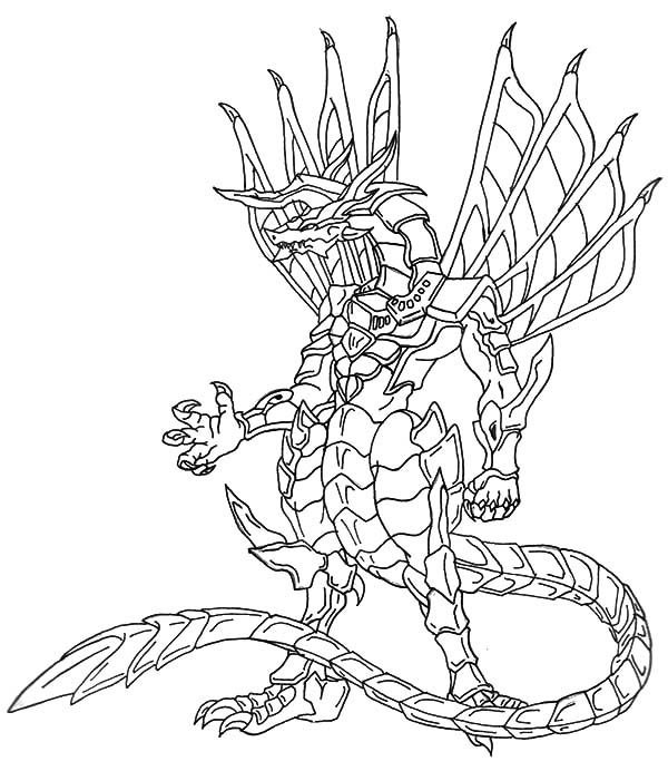 Bakug, : Bakug Bakugan Titanium Dragonoid Coloring Pages