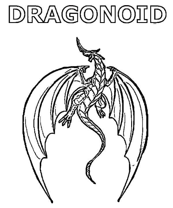 Bakug, : Bakug Dragonoid Coloring Pages