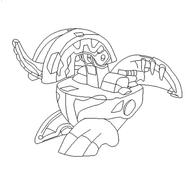 Bakug, : Bakugan Dragonoid Base Bakug Coloring Pages