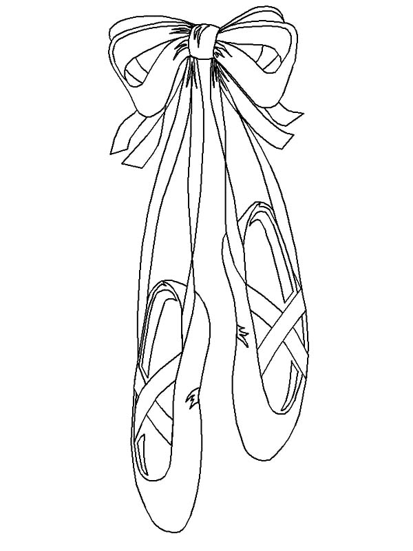 Ballerina Shoes, : Ballerina Shoes Image Coloring Pages