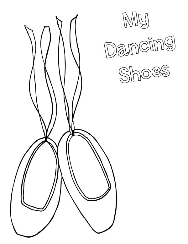 Ballerina Shoes, : Ballerina Shoes My Dancing Shoes Coloring Pages