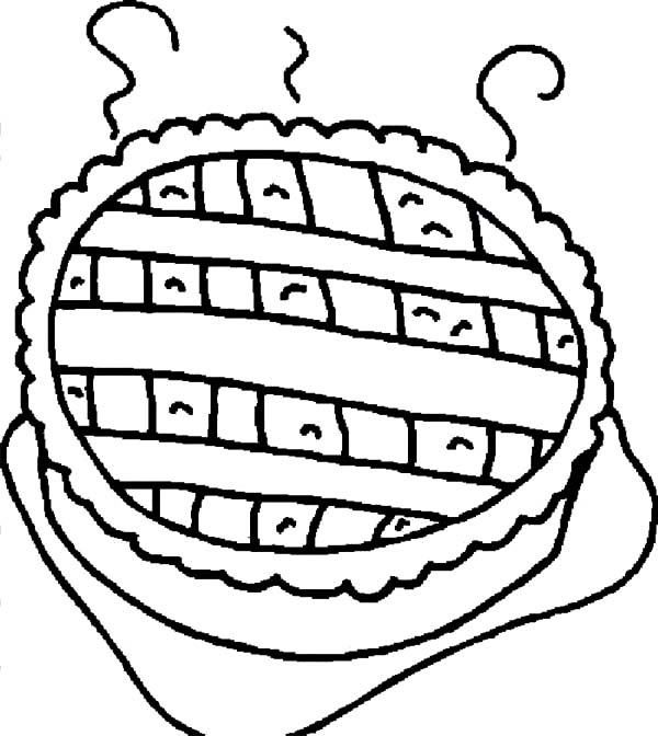 Printable Apple Pie Coloring Pages | Coloring Page
